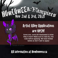 Howl 2018 - Artist Alley Application Open! by HowloweenCanada