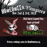 Howl 2018 Hard Enamel Pins by HowloweenCanada