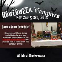 Howl 2018 Gaming Schedule by HowloweenCanada