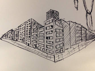 quick sketch of some buildings by dude77777777777