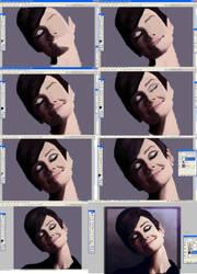 Audrey Hepburn WIP by elizabethmuller
