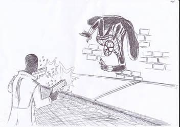 Spider-Girl vs Mr Nobody by frogoat