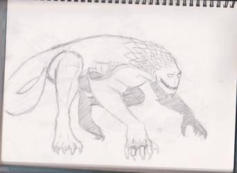 Dragon King sketch 2 by frogoat
