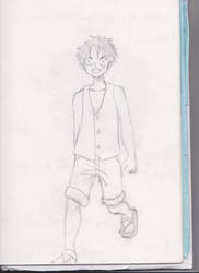 Luffy sketch by frogoat