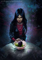 Una manzana negra by Claudia-SG
