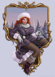 Christmas Pinup Maggie by Claudia-SG