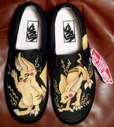 Pikachu Shoes by Brokenfeather-san