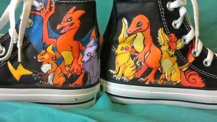 Evolution Custom Shoe Commission by Brokenfeather-san