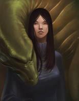 Dragon girl sketch by SulaMoon