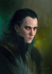 Loki Sketch by SulaMoon