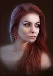 Girl, portrait by Ennya7