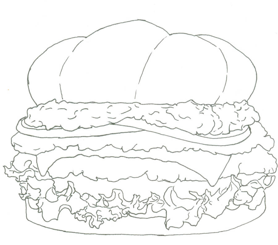 gaucamole burger coloring page by fancyninjacat on deviantart