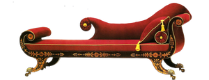 red chaise by jinifur