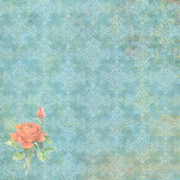 Blue faded vintage scrap paper by jinifur