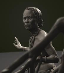 african woman by danulrich