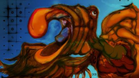 Over Zealous Bird final by clarkwerkborne