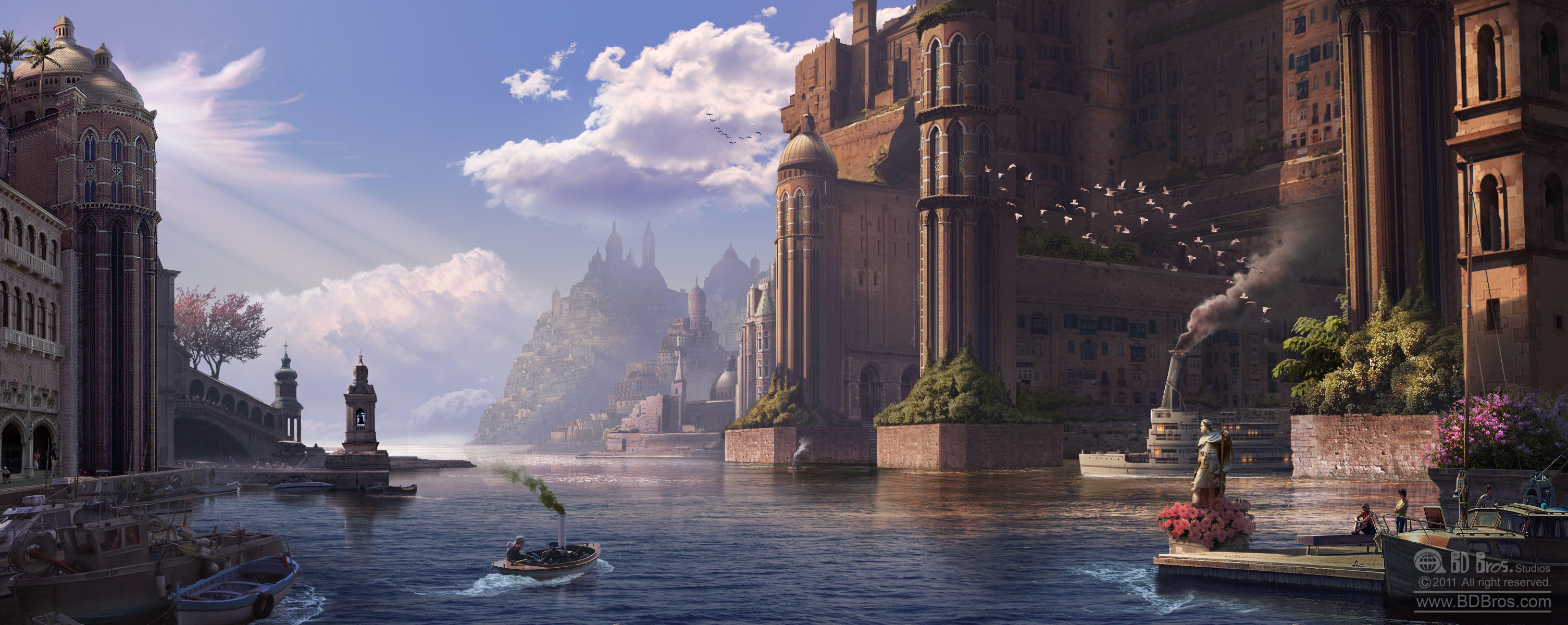 Venetian Dream: Environment Matte Painting by ZOOLAX