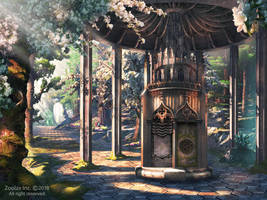 FOREST TEMPLE: MATTE PAINTING GAME ART by ZOOLAX