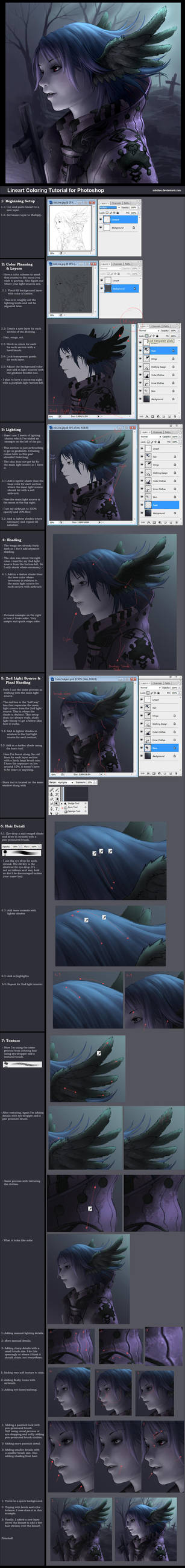Tutorial: Lineart Coloring by minties