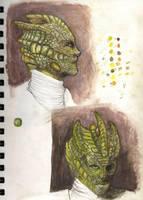 Silurian Study by jazzydoodling