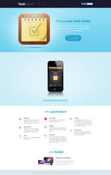 TaskMaster website design by luqa