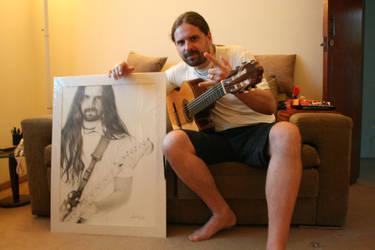 Andreas Kisser  e o desenho by valeriafernand
