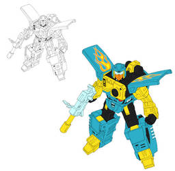 Nightbeat Inks with flats by FunPubComics