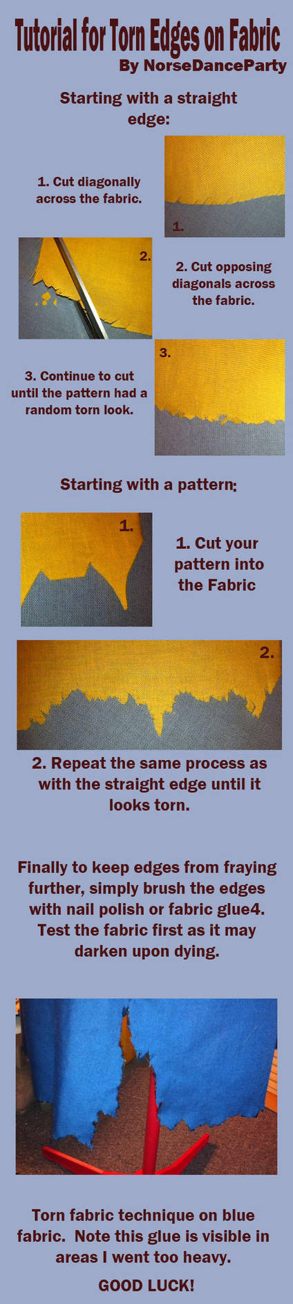 Torn Fabric Tutorial by NorseDanceParty