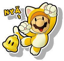 Super Mario 3D World: Cat Mario - Paper Style by The-PaperNES-Guy