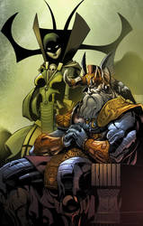 Odin and Hela by chriss2d by gabos