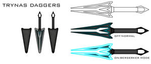 Trynas Daggers by The-Xie