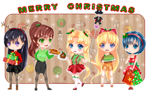 Merry Christmas- Sailor Scouts by Mimimoma