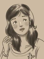 Girl Thinking by Chaak-kun
