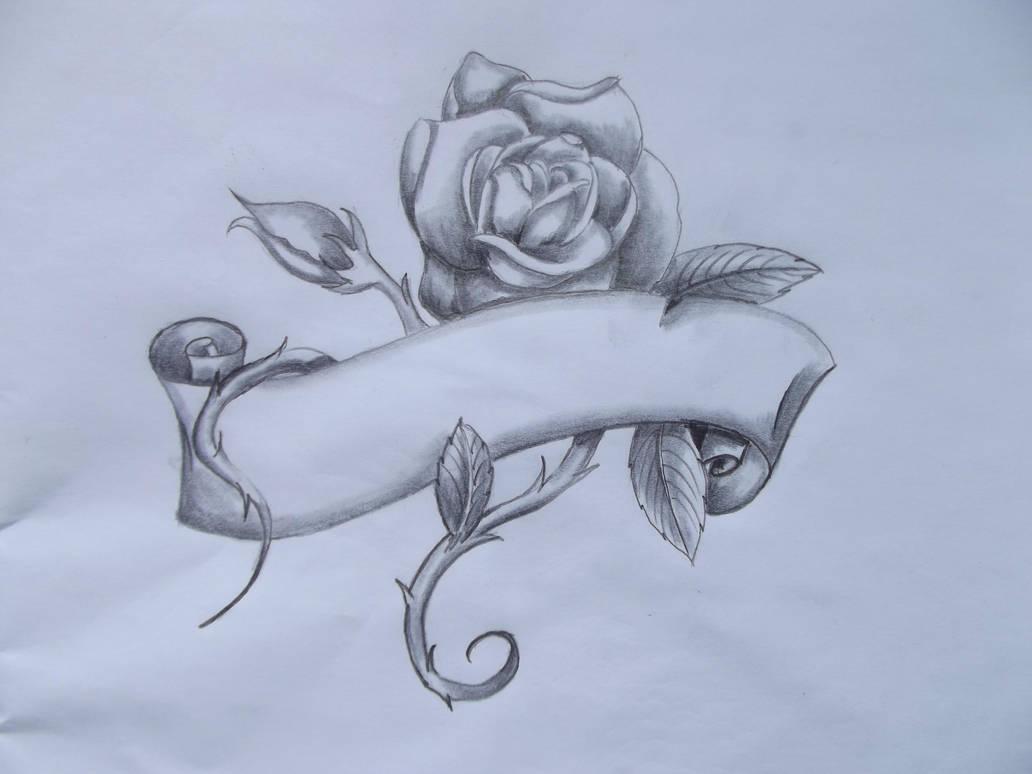 Tattoo Idea Rose Banner By Deliciousratstail On Deviantart