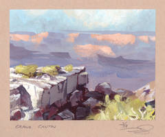 Grand Canyon - quick study (1 hour) by dominikgschwind