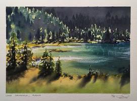 Lake Palpuogna by dominikgschwind