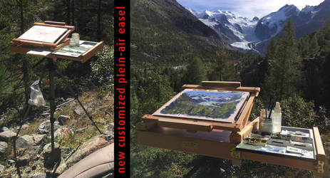 new customized plein-air easel by dominikgschwind