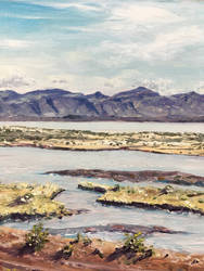 Patagonian Landscape  -  my first oil painting by dominikgschwind