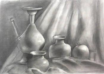 Portfolio Piece 1- Vases by LilCatAnime