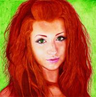 Redhead Girl - Ballpoint Pen by DantesLP
