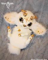Northern white deer, Vesta. by Flicker-Dolls