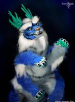 Blue tiger-dragon Koriu by Flicker-Dolls