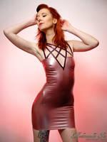 Mademoiselle Ilo - Pentacle latex dress - Model Ma by Mademoiselle-Ilo