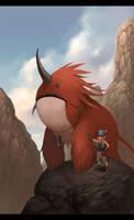 Si Monster Merah by AnggaSatriohadi