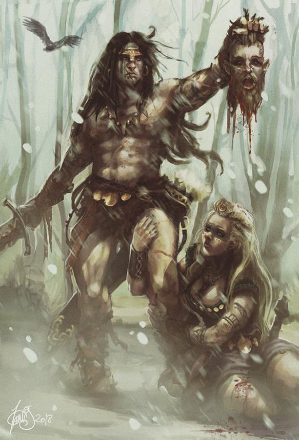 Conan VS Vikings by Traaw
