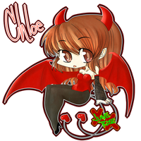 $5ChibiComm.: Chloe the Succubus by JuneRoseXX