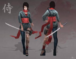Samurai Girl by Joshx87
