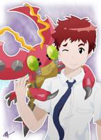 Koushiro and Tentomon - Digimon Adventure Tri by Fayrin-kun
