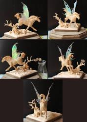 Sculpey fae horse 4 by ravenoo