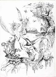 Fae dragon by ravenoo